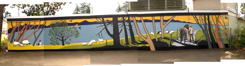 Mural on Metchosin Country Store